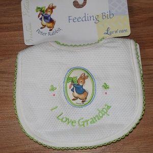 Peter Rabbit I love Grandpa baby bib